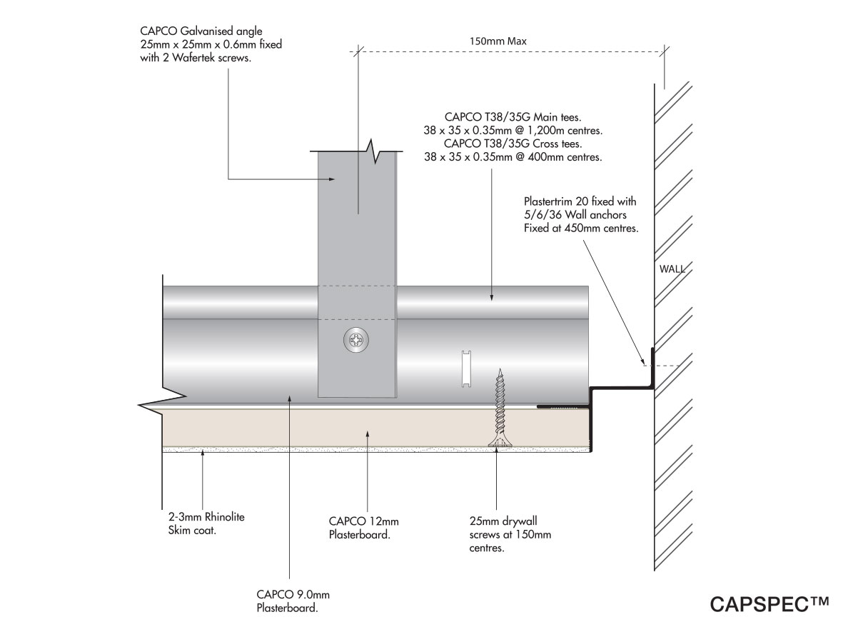 Plasterboard Covered Tee System Capco